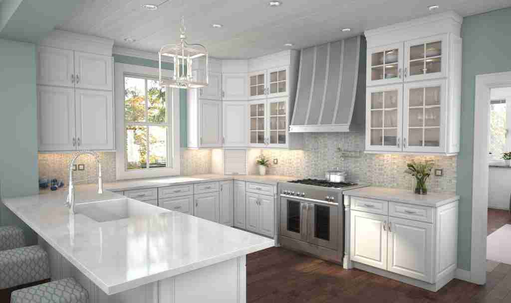 Cubitac Cabinetry Soft Cabinets in Kitchen with Granite Countertop