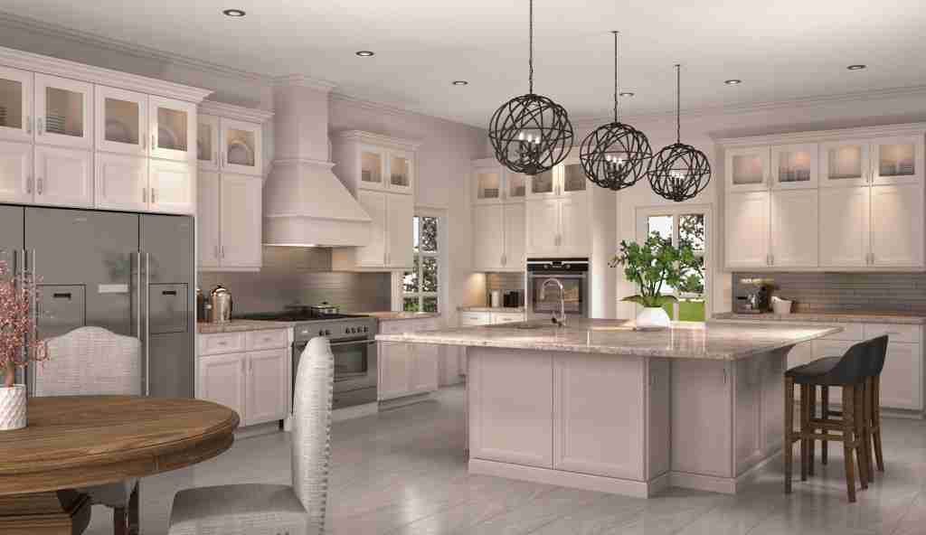 Cubitac Cabinetry Imperial Kitchen Cabinets with Granite