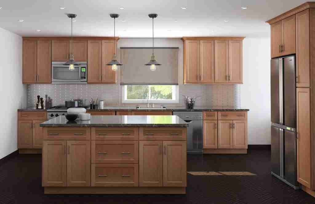 Cubitac Cabinetry Brown Cabinets in Kitchen
