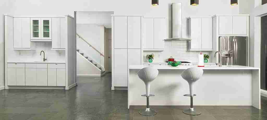 Cubitac Cabinetry Full White Cabinets in Kitchen