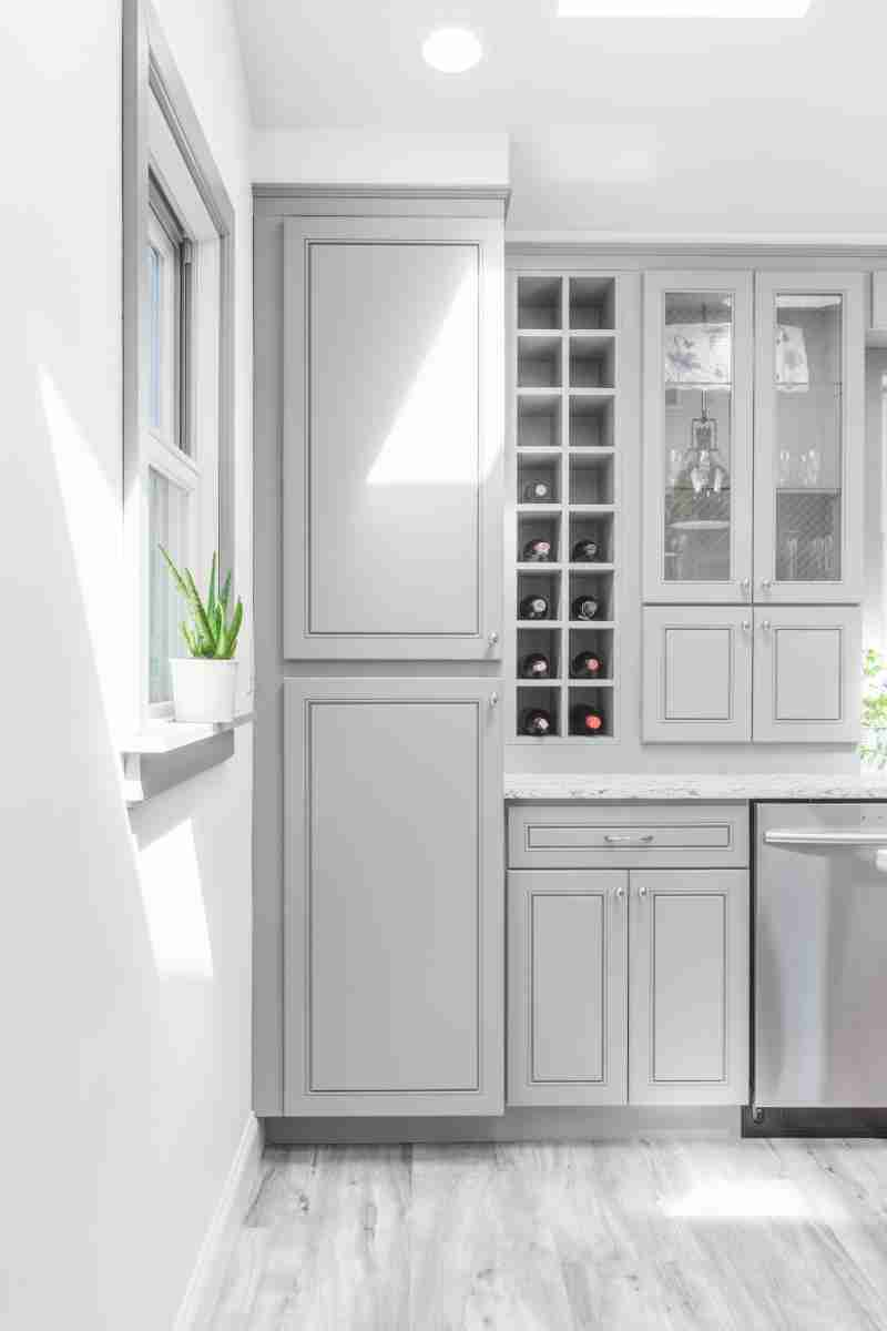 J&K Cabinetry Greige Cabinets