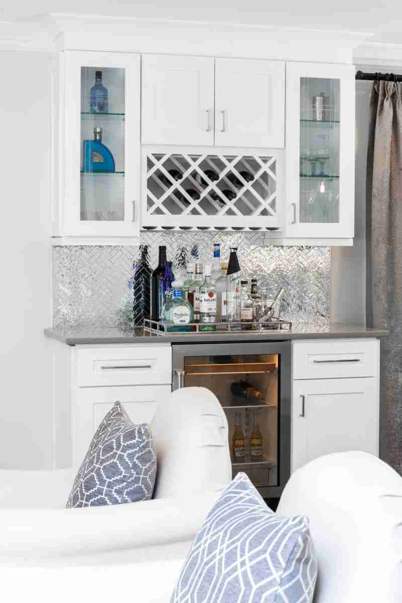 J&K Cabinetry White Kitchen with Far View