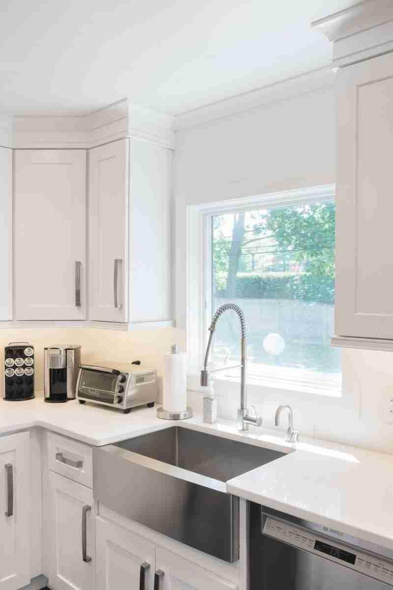 J&K Cabinetry White Kitchen Sinks