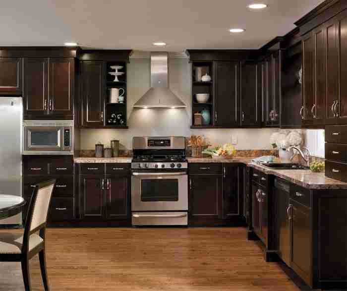 UltraCraft Cabinetry Alder Cabinets in Causal Kitchen