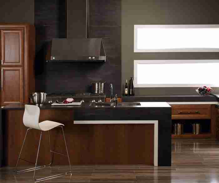 UltraCraft Cabinetry Contemporary Kitchen With Cherry