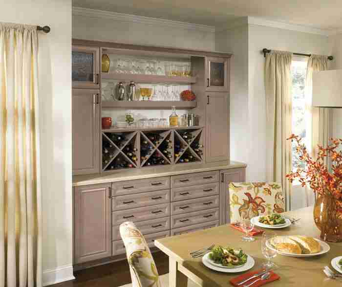 UltraCraft Cabinetry Dining Room Cabinets in Light Grey