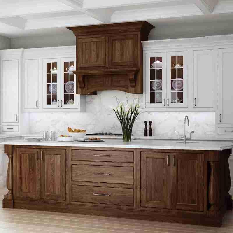 Woodland Cabinetry Walnut Kitchen Cabinets