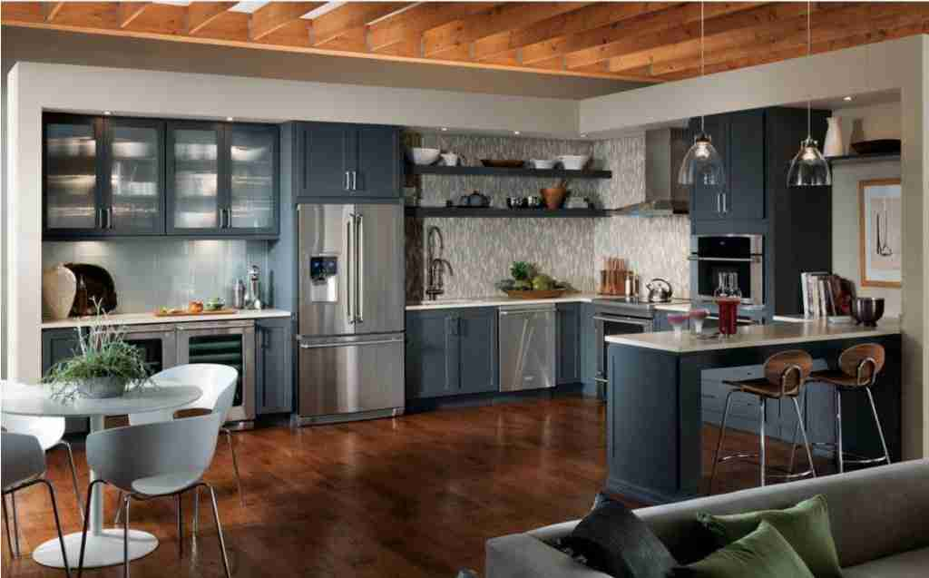 Starmark Cabinetry Gray Kitchen Cabinet Large View