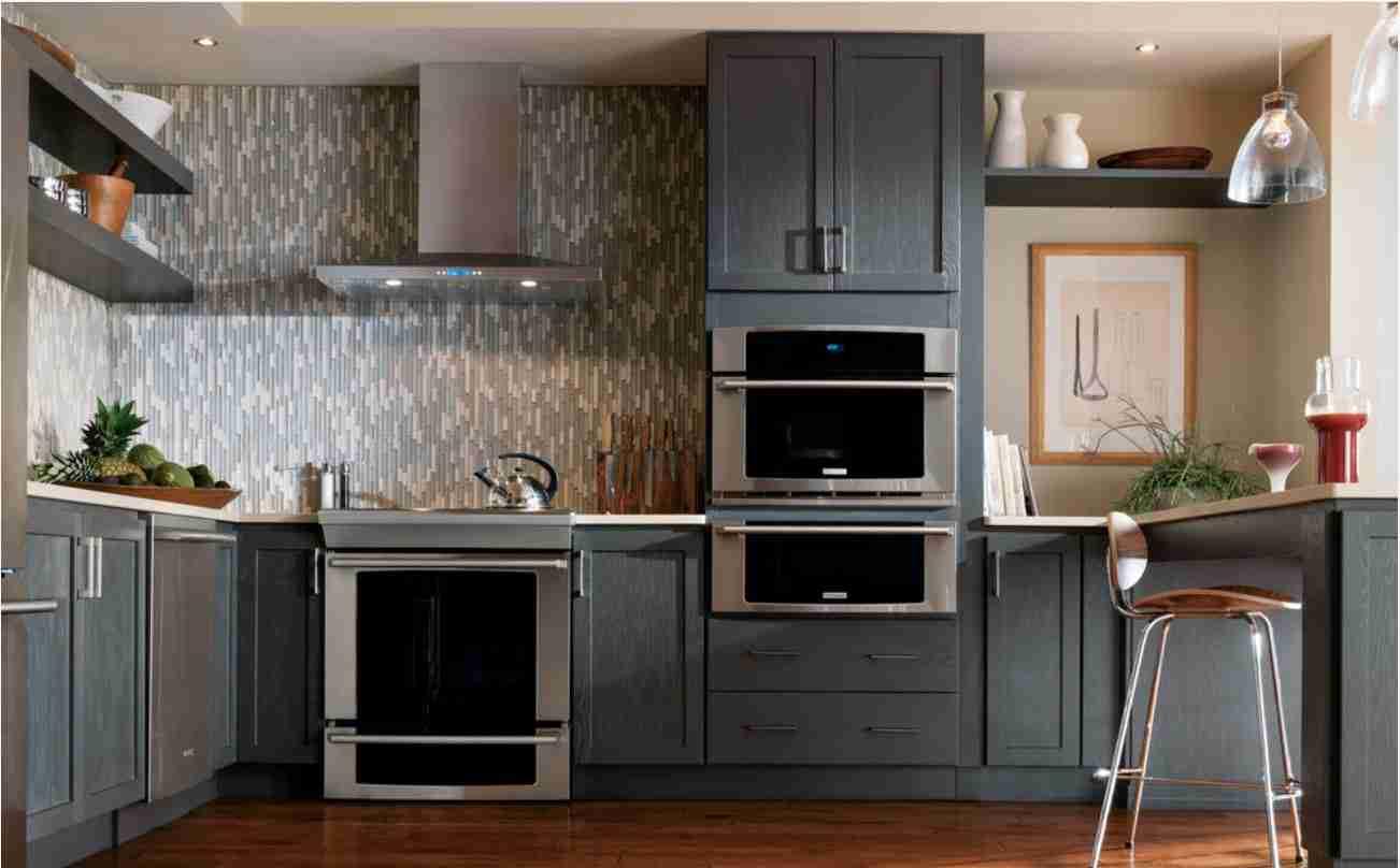 Starmark Cabinetry Gray Kitchen Cabinet